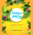 yellow summer poster vector image vector image