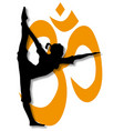 yoga pose poster vector image vector image