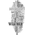you ll love the weather in benidorm spain text vector image vector image