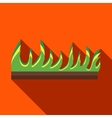 Young sprout seedlings icon in flat style vector image vector image