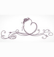 heart shape ribbon valentines day wedding vector image