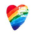 Rainbow heart 2 vector image