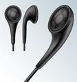 Headphone set vector image