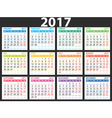 2017 simple calendar vector image vector image
