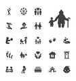 22 family icons vector image vector image