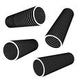 3d industrial pipes black symbol vector image vector image