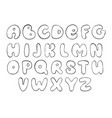 abc sketch english alphabet line letter black vector image