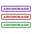 anchorage watermark stamp vector image vector image