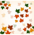 autumn background of maple leaves colofrul image vector image vector image