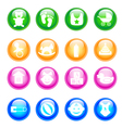 Baby colorful icon set vector image