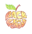 Back to school Pencil lettering inscribed in the vector image vector image