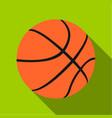 basketball icon flate single sport icon from the vector image vector image
