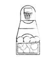 basketball toy design vector image