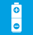 battery icon white vector image
