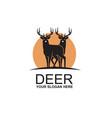 black deer emblem vector image vector image