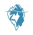 Blue iceberg icon on white background