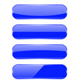 blue oval buttons with reflection vector image vector image