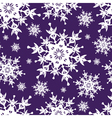 Blue seamless pattern decorative snowflakes vector image vector image