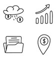 business and accounting icons pack vector image vector image