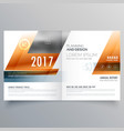 business brochure design template with geometric vector image vector image