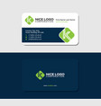 business card with the letter k green color vector image vector image