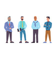 businessmen different ages set bearded bald vector image