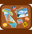 california and colorado travel stickers vector image vector image