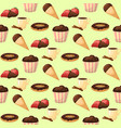 chocolate various tasty sweets seamless pattern vector image