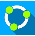 Collaboration Circle Flat Long Shadow Square Icon vector image