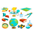 colored pictures science and geography vector image vector image