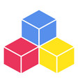 colorful cubes on white background vector image vector image