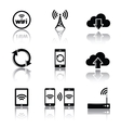 Computer related icons vector image