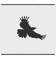 eagle icon black color on transparent vector image vector image