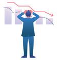 economic recession crash vector image vector image