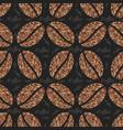 elegant coffee pattern background vector image vector image