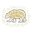 Emblem of the California Republic with bear and vector image