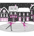 Figure skating greeting card vector image