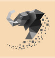 flat elephant with trunk up vector image vector image