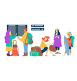 flight and departure plane passengers waiting room vector image