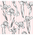 floral pink pattern vector image vector image