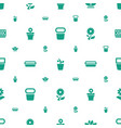 flowerpot icons pattern seamless white background vector image vector image