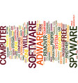 free spyware adware remover text background word vector image vector image