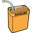 gasoline fuel over white background vector image