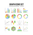 graph and diagram icon in flat design for web vector image vector image