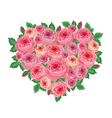 Heart of roses vector image vector image
