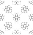 honeycomb sign icon seamless pattern vector image vector image