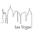 las vegas city one line drawing vector image vector image