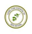 Laurel essential oil label aromatic plant