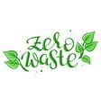 lettering words - zero waste vector image