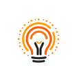 lightbulbs with line dots and beam logo vector image vector image